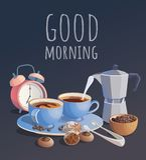 kaffekoppar två stock illustrationer