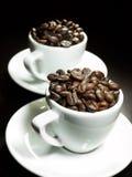kaffekoppar två Royaltyfri Bild