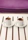 kaffekoppar två Arkivfoto