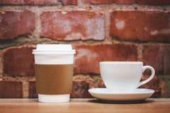 kaffekoppar två Royaltyfri Foto