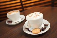 kaffekoppar två Fotografering för Bildbyråer