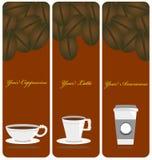 Kaffekopparna Arkivfoton