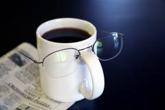 kaffekoppen blidkar Royaltyfri Bild