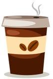 kaffekoppen ut tar royaltyfri illustrationer