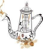 kaffekruka Vektor Illustrationer