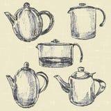 Kaffekrukor Royaltyfri Bild