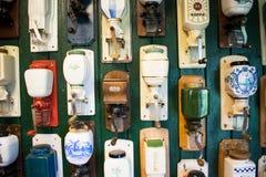 Kaffekvarntappning modellerar samlingen Royaltyfria Foton