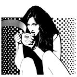 kaffekvinnor Royaltyfri Foto