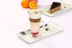 KaffeLatte Macchiato royaltyfri fotografi