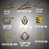 Kaffelogoer och symboler Royaltyfri Foto