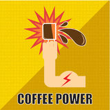 Kaffemakt royaltyfri illustrationer