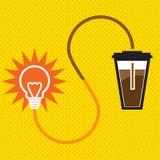 Kaffemakt stock illustrationer