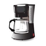 Kaffemaskin för espresso också vektor för coreldrawillustration Arkivbilder