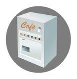 kaffemaskinvending Arkivfoto