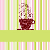 kaffemeny Arkivfoto