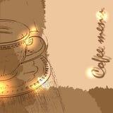 Kaffemenydesign med en kopp Royaltyfri Foto