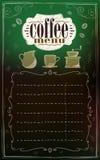 Kaffemenylista med kopieringsutrymme för text stock illustrationer