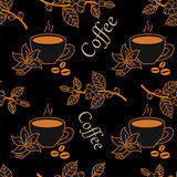 Kaffemodell royaltyfri illustrationer