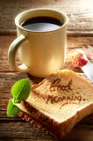 kaffemorgon Arkivfoton