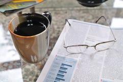 kaffemorgon arkivbild