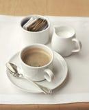kaffemorgonset Fotografering för Bildbyråer