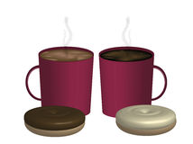 kaffepar Royaltyfri Bild