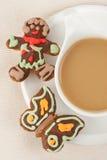 kaffepepparkaka Royaltyfria Foton