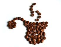 Kaffepotentiometer hergestellt von den Kaffeebohnen Stockbild