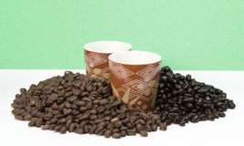 Kaffeprövkopior Arkivbilder