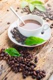 Kaffeprodukter, kaffebroms Fotografering för Bildbyråer