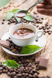 Kaffeprodukter, kaffebroms Royaltyfri Foto