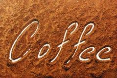 kaffepulver royaltyfri foto