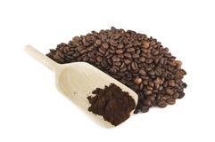 kaffepulver Fotografering för Bildbyråer