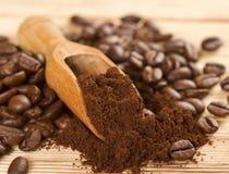 Kaffepulver Arkivfoto