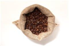 Kaffesäck uppifrån Arkivbild