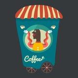Kaffesäljare Arkivfoto