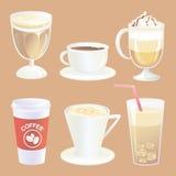 kaffesamlingsdrinkar Arkivbild