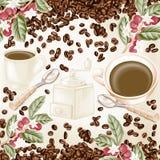 Kaffesammansättning vektor illustrationer