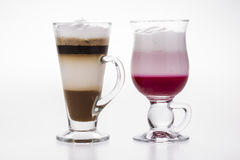 Kaffeserie Arkivbild