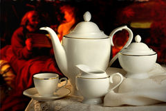 kaffeset Royaltyfri Foto
