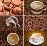 kaffeset Arkivfoton