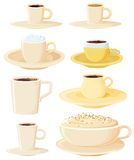 kaffeset Arkivbild