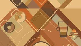 KaffeShape bakgrund vektor illustrationer