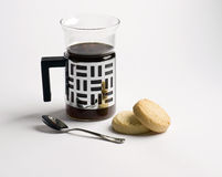kaffeshortbread Royaltyfri Bild