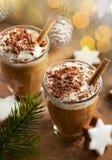 Kaffeskaka för jul arkivbild