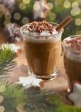 Kaffeskaka för jul royaltyfria bilder
