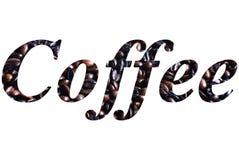 kaffeskrift arkivfoton