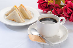 kaffesmörgås Arkivbilder