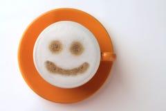 kaffesmiley Arkivfoto