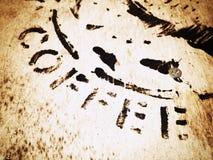 Kaffestenciltyp Arkivfoton